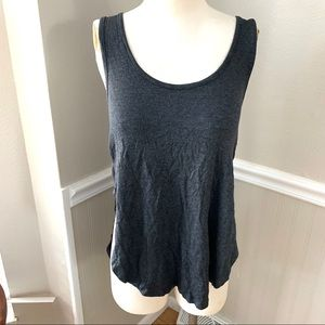 Beyond Yoga heathered gray side cut out tank Med